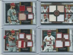 2020 Topps Museum St Louis Cardinals Game Used LOT 4 Cards Goldschmidt Molina $39.99