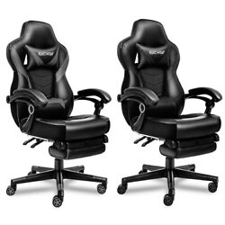 Massage Gaming Chair Racing Office Computer Desk Swivel Seat Leather Recliner $139.64