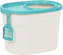 Pet Toilet Top Entry Cat Litter Box Large Easy To Cleand Filtered Lid with Scoop $28.99