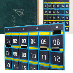 Numbered Classroom Pocket Chart by Happy Teacher Teaching Supplies Cell Phone US $10.99