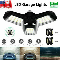 80W 8000LM Deformable LED Garage Light Super Bright Shop Ceiling Lights Bulb RG $15.97