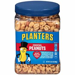 Planters Party Size Salted Cocktail Peanuts Heart Healthy 35oz Free Shipping $8.25