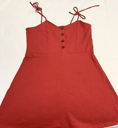 Extra Large Red Dress for Women Casual Button Front Sleeveless 12 $12.99