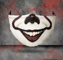 Halloween IT Clown Face Mask Cover Adjustable with Filter 43 500 $6.99