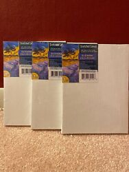 Lot Of 3 Stretched Canvas White Cotton for Acrylic amp; Oil Painting 6x8 inches $10.00