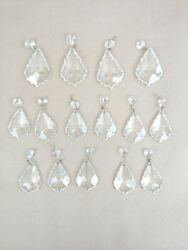 Vintage Chandelier Crystals Replacements Scalloped Pendalogue Lot of 15 $39.99