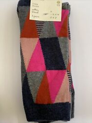A New Day Womens Crew Socks 3 Pairs Cotton Blend Dots Geometric Shoe Size 4 10 $7.00