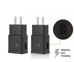 2 Pack Fast Charger Adapter USB Home Wall For Apple iPhone 6 7 8 X XS 11 Black $8.98