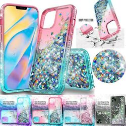 For iPhone 12 Pro Max Glitter Quicksand Girly Shockproof Bling Case Clear Cover $6.99