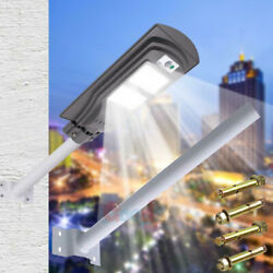 14000LM Commercial LED Solar Street Light Wall Light Mounting Pole US