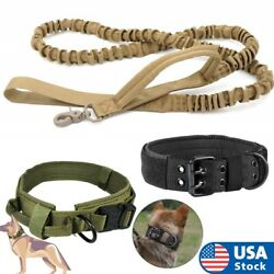 Tactical K9 Dog Training Collar Leash with Metal Buckle for L Dog Heavy Duty $6.64