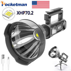 Brightest 200000LM XHP70 LED Flashlight USB Rechargeable 4Mode Torch Searchlight $44.36