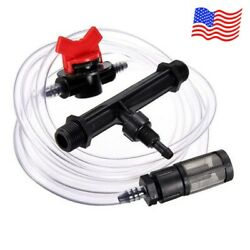 3 4quot; Fertilizer Injector amp; Water Tube with Flow Controller Garden Irrigation Kit $13.87
