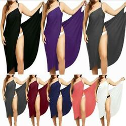 Women Swimwear Scarf Beach Cover Up Wrap Sarong Sling Skirt Maxi Dress Plus Size $9.98