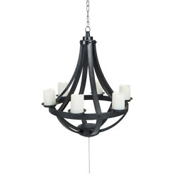 LED Outdoor Chandelier Light w Remote Control Perfect for Gazebo or Patio $144.00