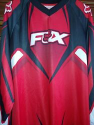 FOX Motocross Red Black Long Sleeve Size XL $43.90