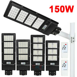 15000LM Commercial LED Solar Street Light Radar PIR Motion Sensor RemotePole