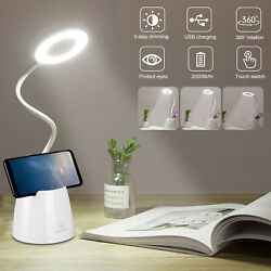 LED Desk Table Light Bedside Reading Lamp Dimmable Rechargeable Touch Control $14.99