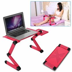 Laptop Portable Desk Adjustable Ergonomic Aluminum Table and Bed Stand Tray $21.12
