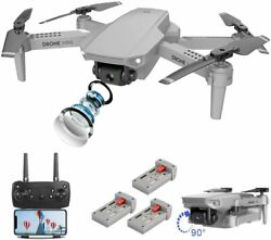 WIFI FPV Drone Selfie With HD 4K Dual Camera Foldable Arm RC Quadcopter Toy Gift $44.51