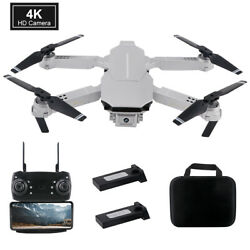 Selfie FPV WiFi Drone Dual Camera 4K HD Wide angle Fold RC Quadcopter Toy Gifts $49.83