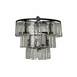 Noir Carnegie Small Chandelier In Black Metal LAMP684S $781.00