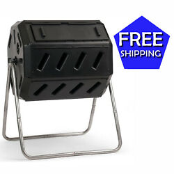 FCMP Outdoor IM4000 37 Gal Dual Chamber Quick Curing Tumbling Composter Soil Bin $127.95