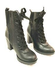 A New Day Jada Womens Boots Lace Up Faux Leather Size 7.5 $25.00