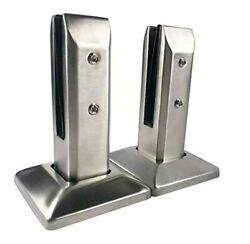 Heavy Duty Floor Glass Clamp 2 PCS 10 12mm 304 Stainless Steel Adjustable Balust $105.99