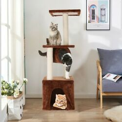 38quot; Cat Tree Condo Pet Furniture Activity Tower Play House with Perches Hammock $30.99