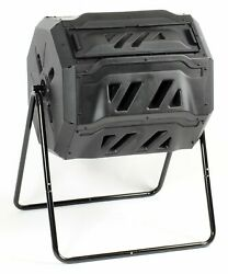 42 Gallon Rotary 2 Chamber Tumbling Composter NEW FREE SHIPPING $130.75
