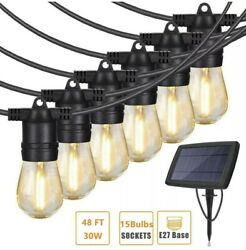 Brightech Ambience Pro Solar Power Weatherproof Outdoor String Lights 27 Ft
