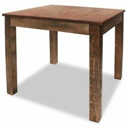 vidaXL Dining Table 32.3quot; Solid Reclaimed Wood Rustic Room Stand Deck Couch $239.39