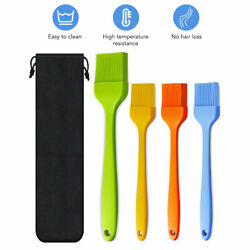 5Pcs Kitchen Utensils Sets Silicone Basting Brush Heat Resistant Oil Brush BBQ $11.99