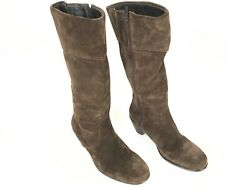 Dansko Womens Boots ZIPPER ISSUE Brown Suede Leather Knee High Size EU 39 US 8.5 $34.00