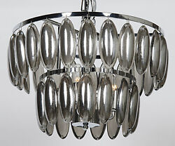 Noir Lolita Metal And Glass Small Chandelier With Chrome Finish LAMP577CR S $659.95