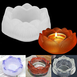 1 3X Silicone Mold Lotus Shape Epoxy Resin Mould DIY Making Ashtray Tray Crafts $9.48