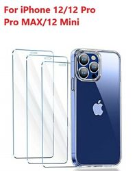 3 Pack For iPhone 12 Pro max mini iPhone 12 Pro Tempered Glass Screen Protector $5.99