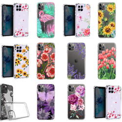 For iPhone 12 11 Pro Max 7 8 Plus XS MAX XR Women Cute Shockproof Floral Case