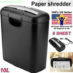 Commercial OFFICE HOME Shredder PAPER DESTROY Strip Cut Heavy Duty Credit Card