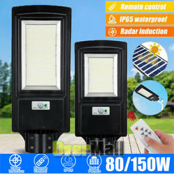 9900000LM 150W Commercial LED Solar Motion Street Light Dusk to DawnRemotePole