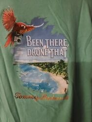 Tommy Bahama quot;Been There Drone Thatquot; Green Tee Shirt XL quot;Pre ownedquot;. $39.00