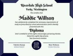 Novelty High Home School diploma certificates other variety certificates   $12.95