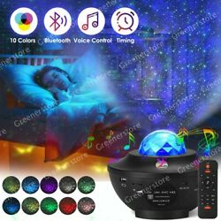 USB Starry Sky Galaxy Projector Bluetooth LED Light Lamp Ocean Wave Baby Room $28.42
