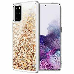 Glitter Case for Galaxy S20 Plus for Girls Women Liquid Quicksand Gold Silver $18.74