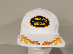 Commodore Rhodes Vintage Patch Trucker Mesh Snapback Hat Leaves C $14.99