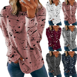 Women Casual Long Sleeve Floral Printed T Shirt Blouse Loose Pullover Tunic Tops $13.99