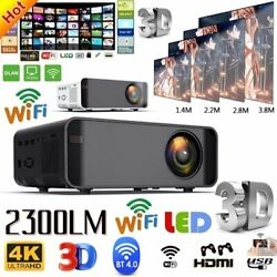 23000LM LED Smart Home Theater Projector 4K Wifi BT 1080p HD 3D Home Video USA $92.99