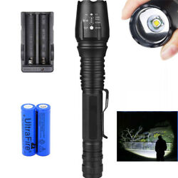 Tactical 350000LM Zoomable LED Flashlight Torch Camping Lamp Sets XI $14.17
