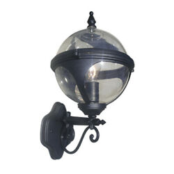 18quot; Outdoor Wall Light Orb Globe Sconce Exterior Lighting Lantern Clear Glass